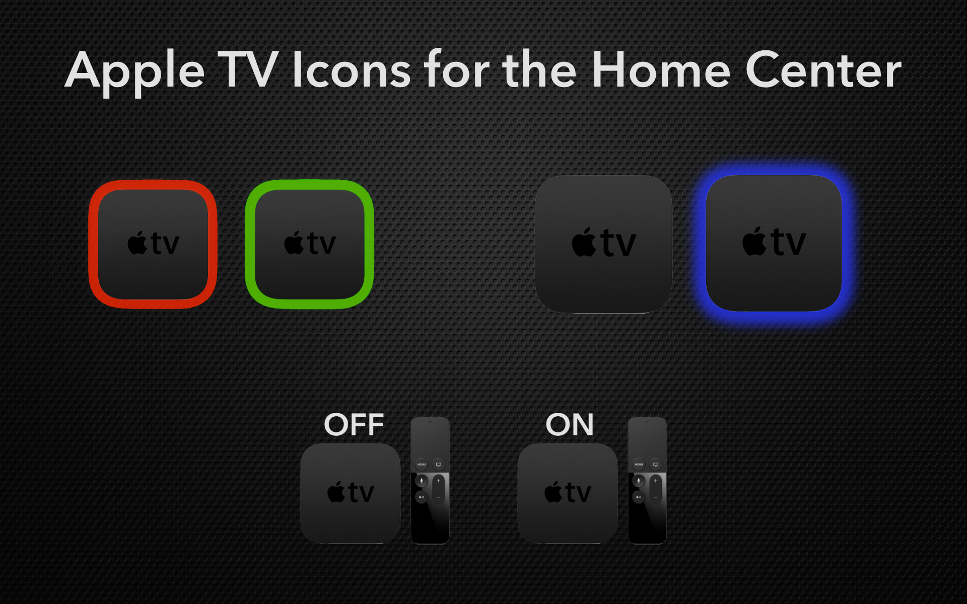 Apple TV Icons - Icons - Smart Home Forum by FIBARO